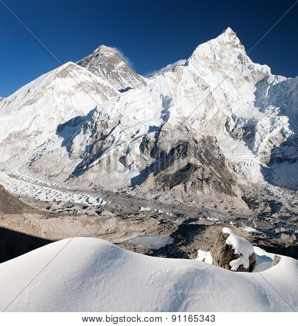 Everest, Lhotse And Nuptse From Kala Patthar