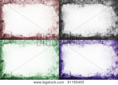 Set of abstract watercolor painted background.