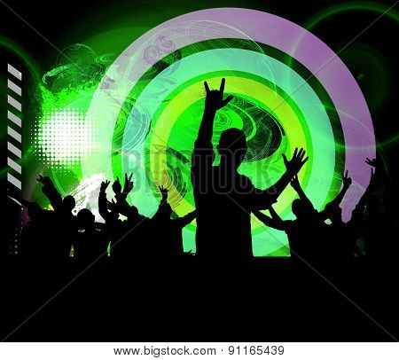 Music event illustration