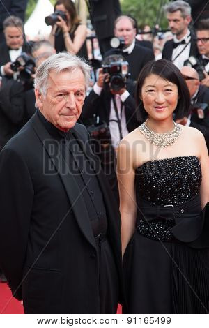 Costa-Gavras. Opening Ceremony 'La Tete Haute' Premiere. 68th Annual Cannes Film Festival at Palais des Festivals on May 13, 2015 in Cannes, France.