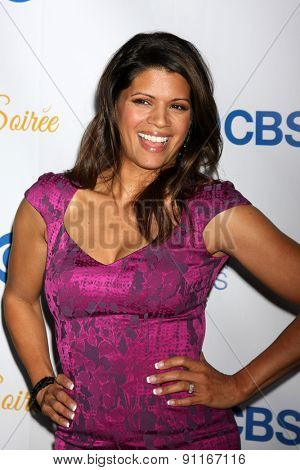 LOS ANGELES - MAY 18:  Andrea Navedo at the CBS Summer Soiree 2015 at the London Hotel on May 18, 2015 in West Hollywood, CA