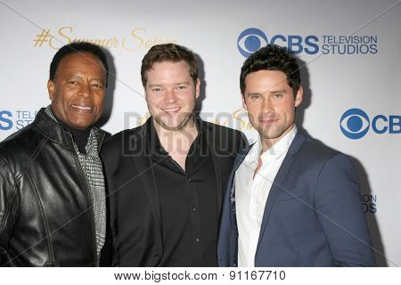 LOS ANGELES - MAY 18:  William Allen Young, Harry Ford, Ben Hollingsworth at the CBS Summer Soiree 2015 at the London Hotel on May 18, 2015 in West Hollywood, CA