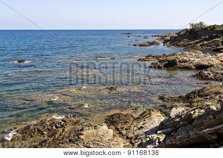 Rocky Coast In The French Riviera