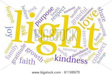 Light Word Cloud