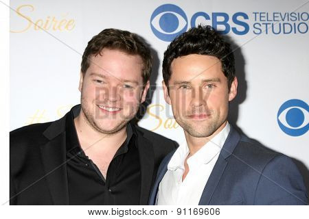 LOS ANGELES - MAY 18:  Harry Ford, Ben Hollingsworth at the CBS Summer Soiree 2015 at the London Hotel on May 18, 2015 in West Hollywood, CA