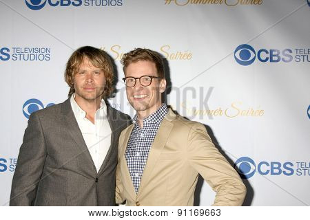LOS ANGELES - MAY 18:  Eric Christian Olsen, Barrett Foa at the CBS Summer Soiree 2015 at the London Hotel on May 18, 2015 in West Hollywood, CA