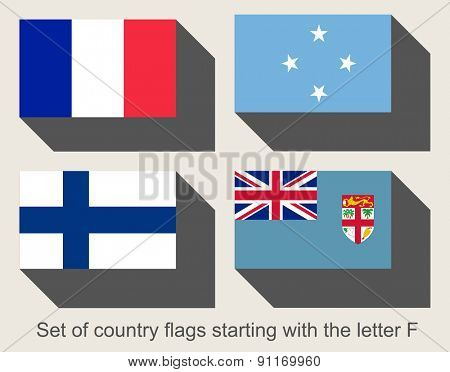Set of flags starting with the letter F
