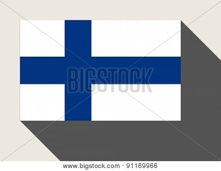 Finland flag in flat web design style.