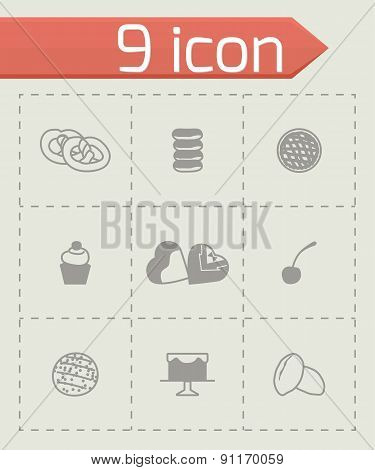 Vector Fresh bakery icon set