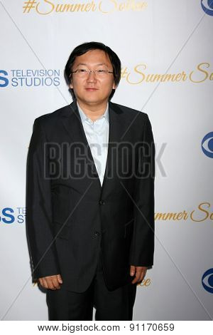 LOS ANGELES - MAY 18:  Masi Oka at the CBS Summer Soiree 2015 at the London Hotel on May 18, 2015 in West Hollywood, CA