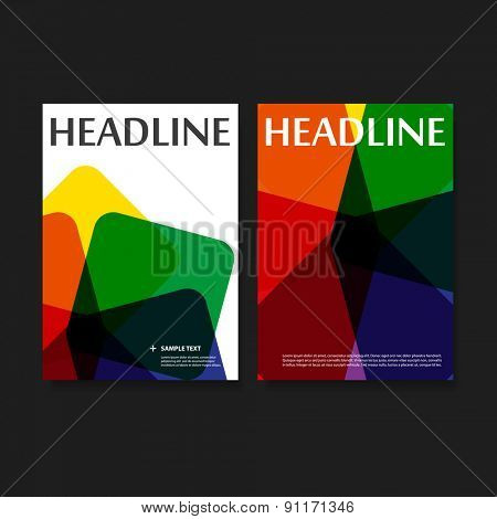 Flyer or Cover Design with Colorful Background
