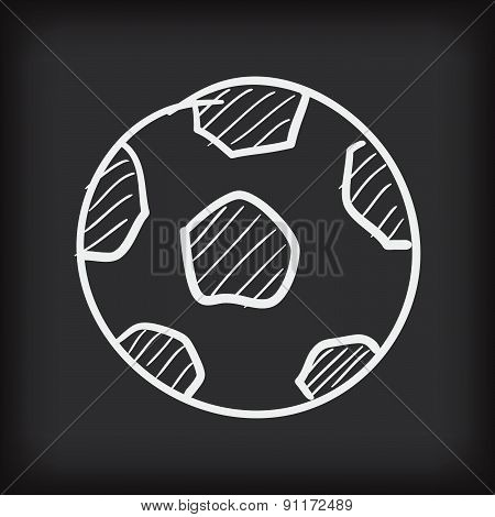 Soccer Ball Free Hand Doodle Vector Illustration