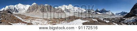 Panoramic View Of Mount Cho Oyu