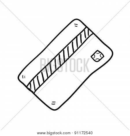 Credit Card Hand Drawn Vector Illustration