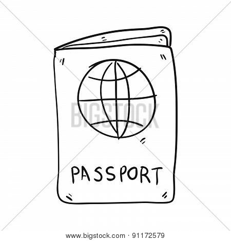 Passport Hand Drawn Vector Illustration