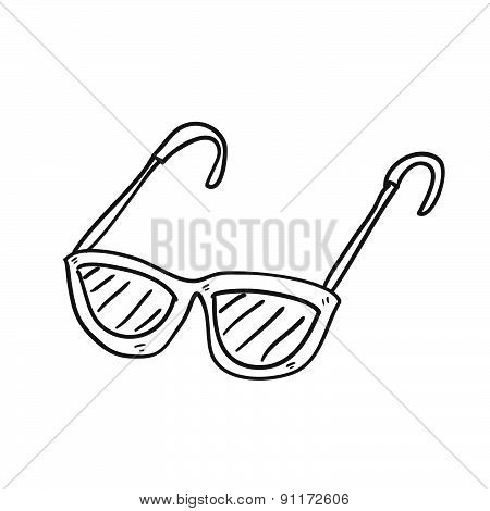 Sun Glasses Hand Drawn Vector Illustration