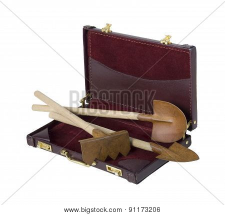 Gardening Tools In A Briefcase