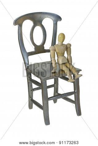 Small Person Sitting On Large Chair