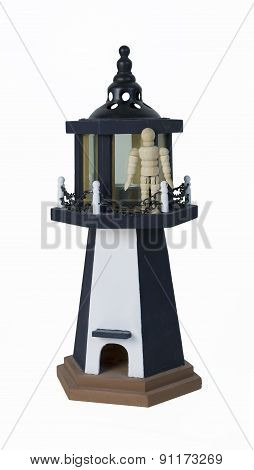 Standing On A Parapet Of A Lighthouse