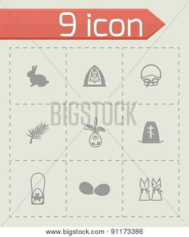 Vector Easter icon set