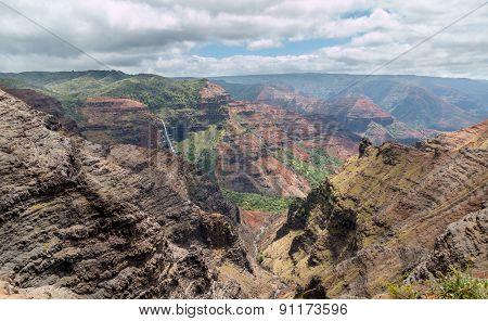 Waipoo Falls, Waimea Canyon Kauai, Hawaii