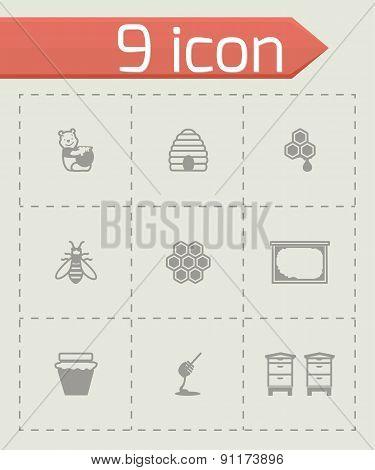 Vector Honey icon set
