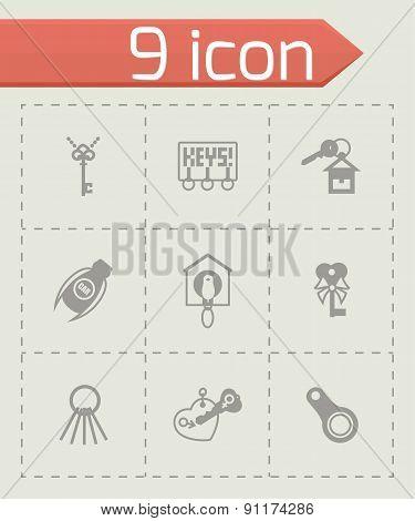Vector Key icon set