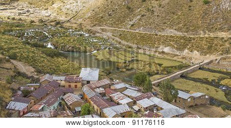 Andean village in the mountains