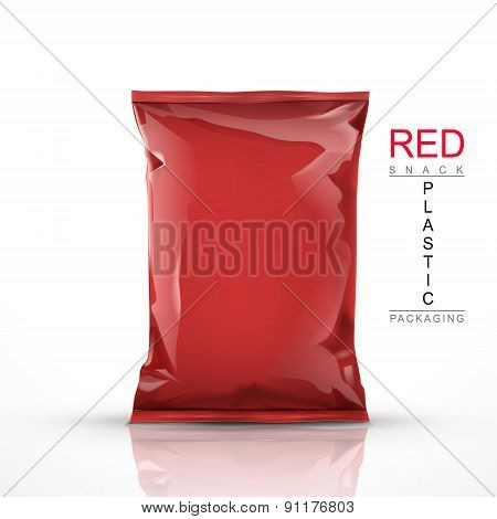 Red Snack Plastic Packaging