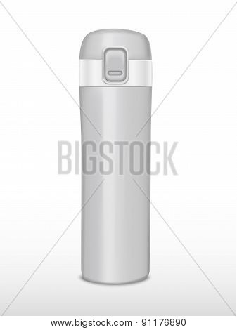 Silver Thermos Bottle