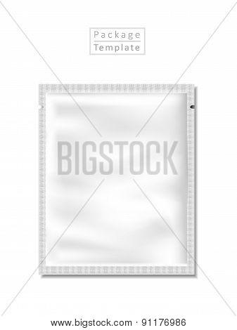 Blank Foil Packaging Template