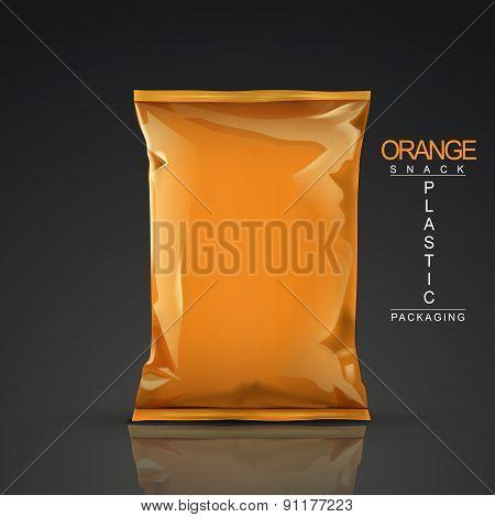 Orange Snack Plastic Packaging