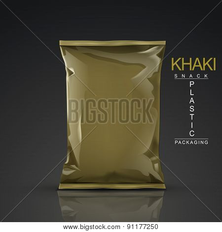 Khaki Snack Plastic Packaging