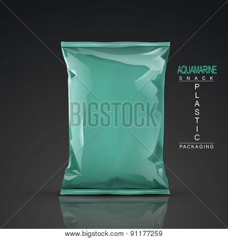 Aquamarine Snack Plastic Packaging