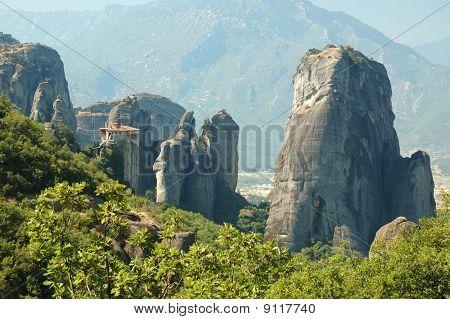 Rousanou Rock Monastery At Meteora,greece
