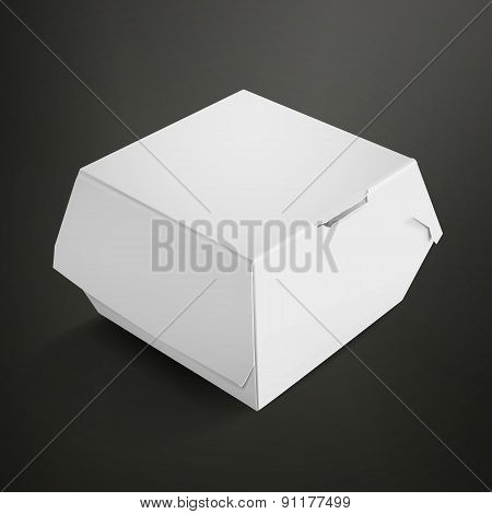White Food Box Packaging For Hamburger