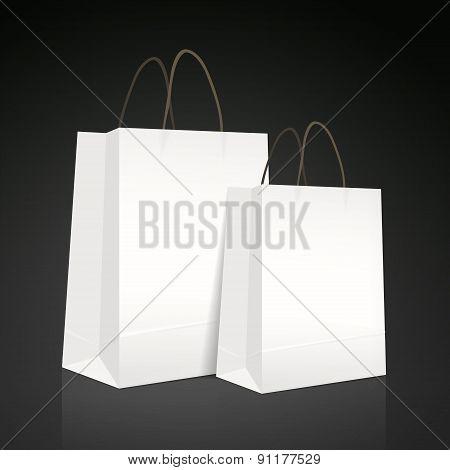 White Paper Bag Set