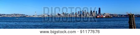 Seattle panoramic view from Alki Beach