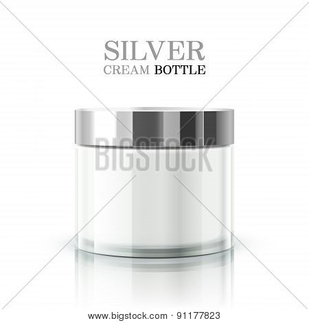 Silver Cream Bottle Package