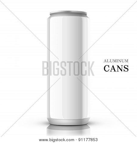 White Aluminum Can