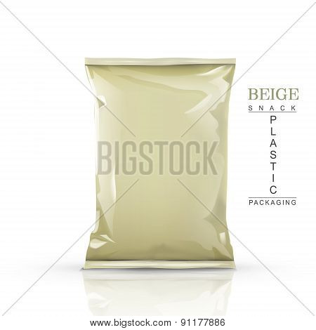 Beige Snack Plastic Packaging