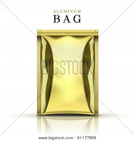 Golden Aluminum Bag
