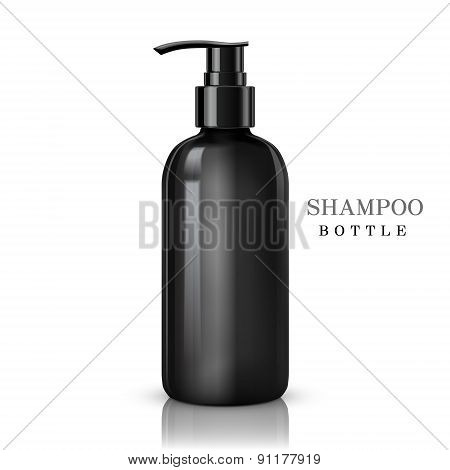 Black Shampoo Bottle