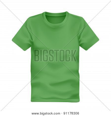 Man's T-shirt In Green