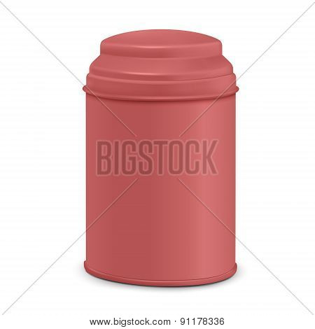 Red Round Tin Packaging