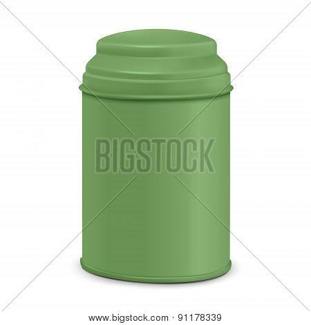 Green Round Tin Packaging