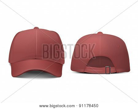 Blank Hat In Red