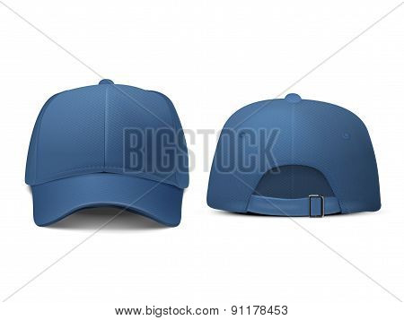 Blank Hat In Blue