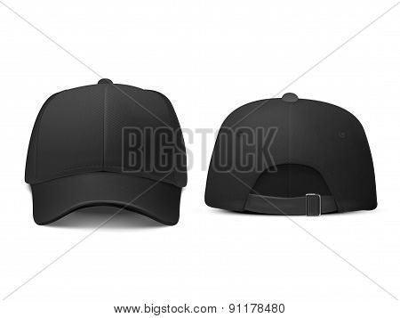 Blank Hat In Black