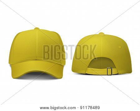 Blank Hat In Yellow